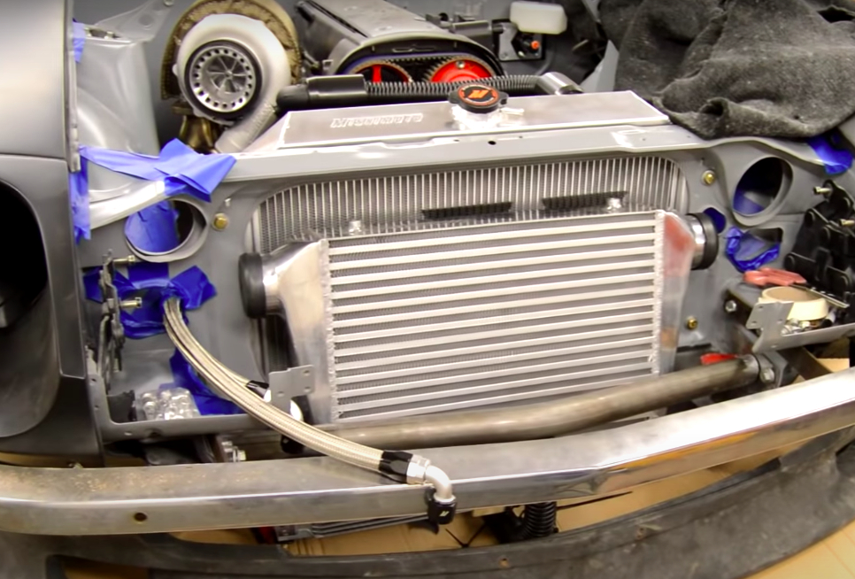 Vehicle cooling system radiator.